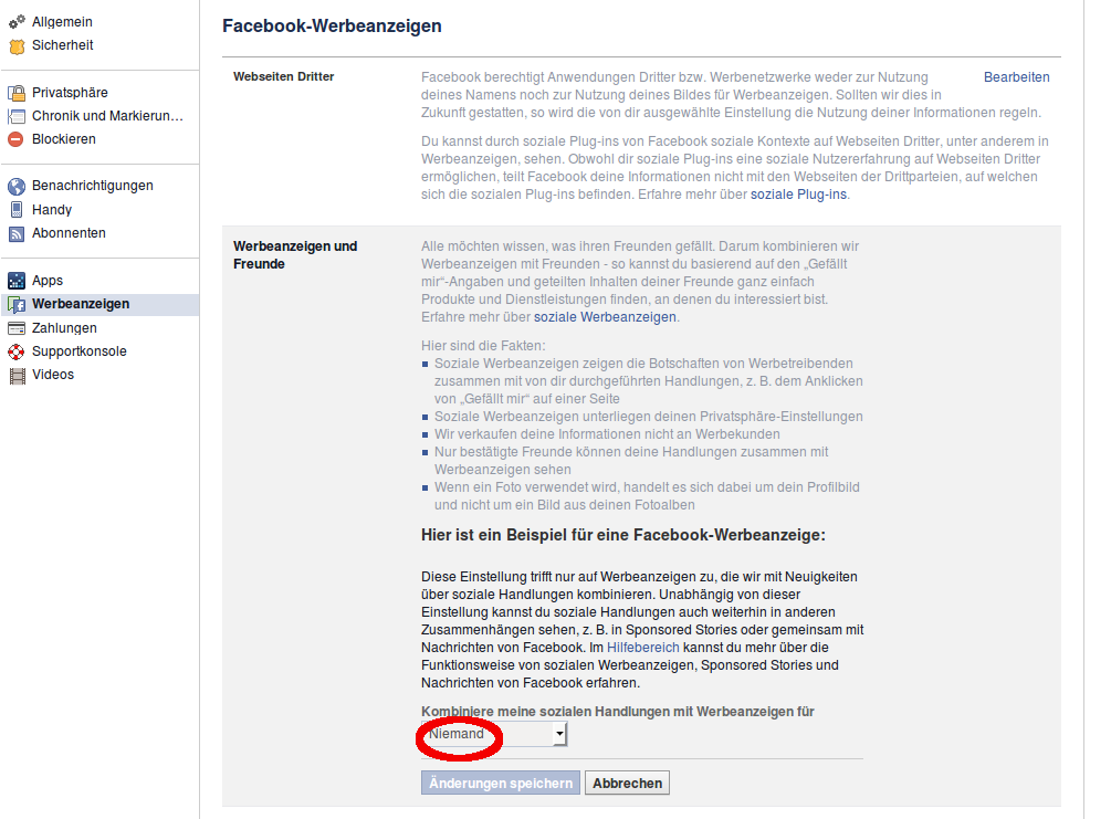 Facebook Werbeanzeigen 2